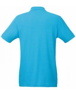 Бирюзовый цвет макета задней части рубашки Поло под нанесение