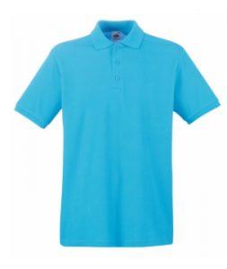 Бирюзовый цвет макета передней части рубашки Поло под нанесение