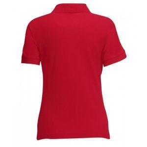 Красный цвет макета задней части женской футболки Поло для печати