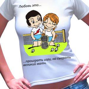 Женская футболка Love 4