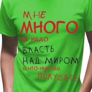 """Футболка мужская """"Власть"""""""